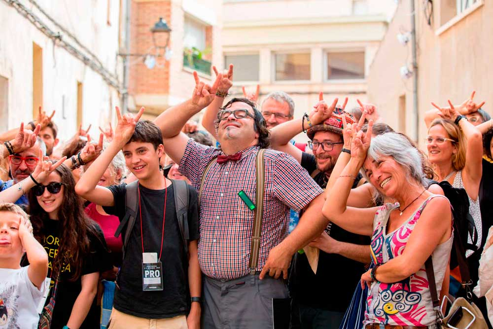 Uno de los espectáculos de calle representados en FiraTàrrega. © Núria Boleda