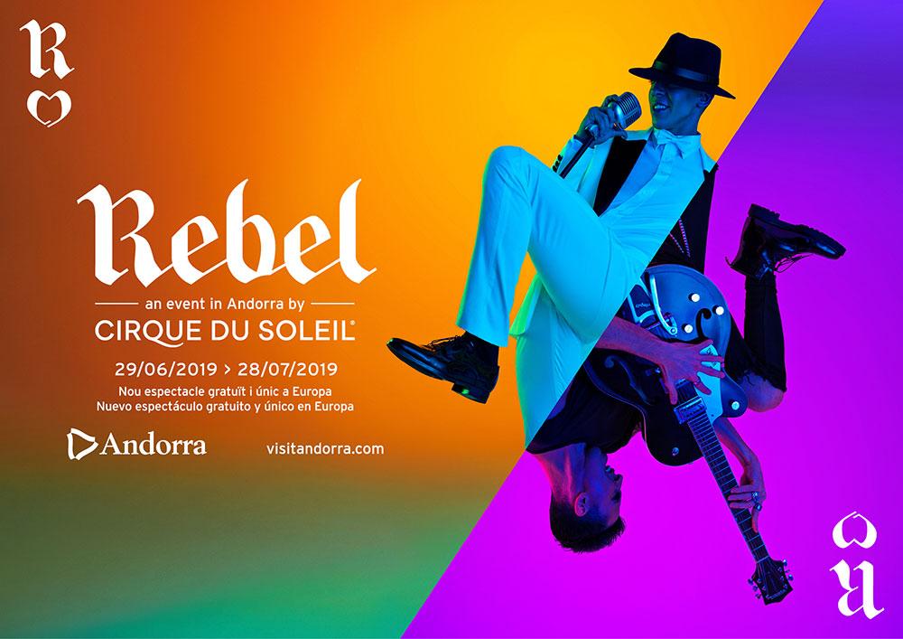 """""""Rebel"""" es el espectáculo de Circo del Sol que este verano se podrá ver en exclusiva en Andorra."""